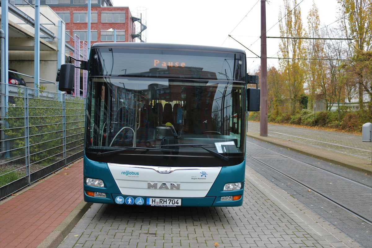 Regiobus MAN Lions City am 15.11.19 in Hannover