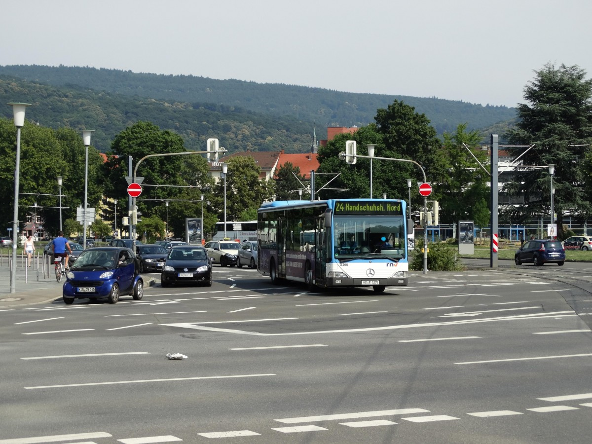 RNV Mercedes Benz Citaro C1 8366 am 03.07.15 in Heidelberg