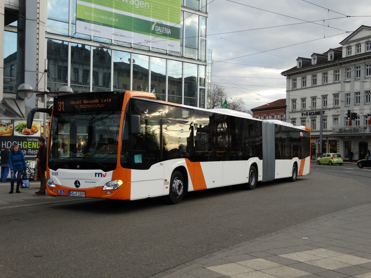 rnv mercedes benz citaro c2 g 8191 am in heidelberg bus. Black Bedroom Furniture Sets. Home Design Ideas