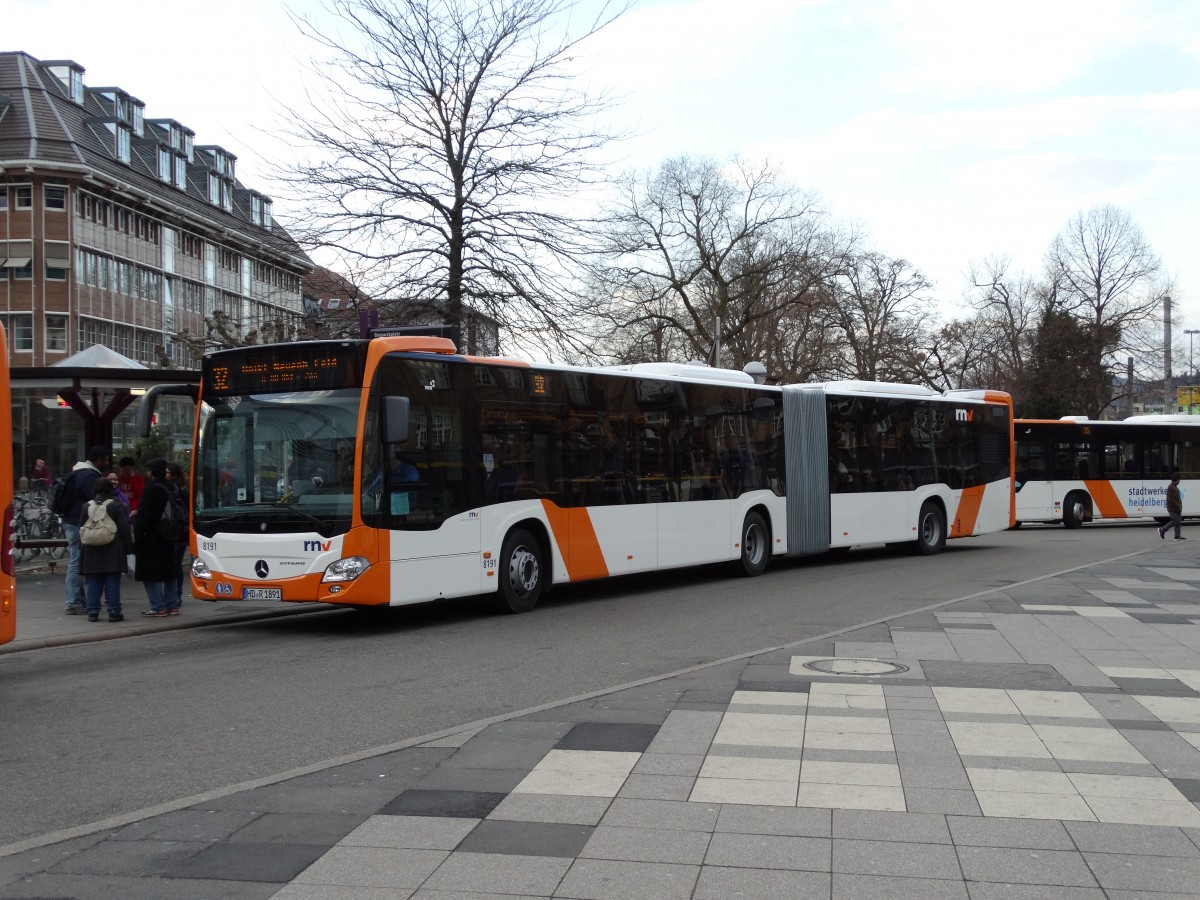 RNV Mercedes Benz Citaro C2 G 8191 am 27.03.15 in Heidelberg