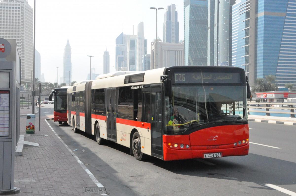 Rta Dubai Solaris Urbino 18 In Al Jafiliya Metro Station