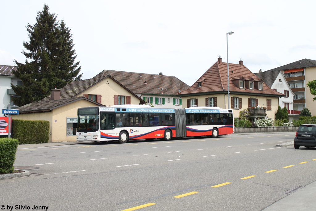 RVBW Nr. 159 (MAN A23 Lion's City G) am 2.5.2015 in Neuenhof, Kreuzstein.