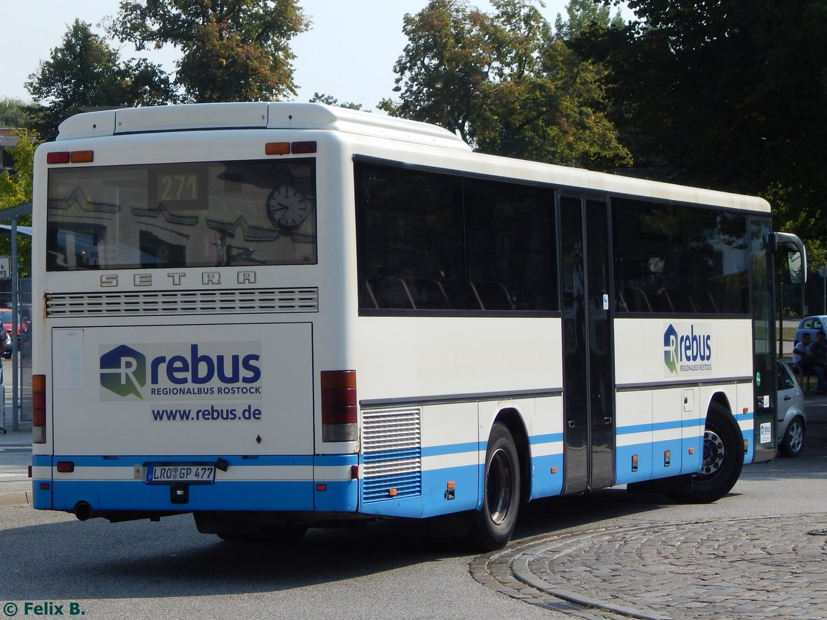 Setra 315 UL von Regionalbus Rostock in Güstrow am 13.09.2016