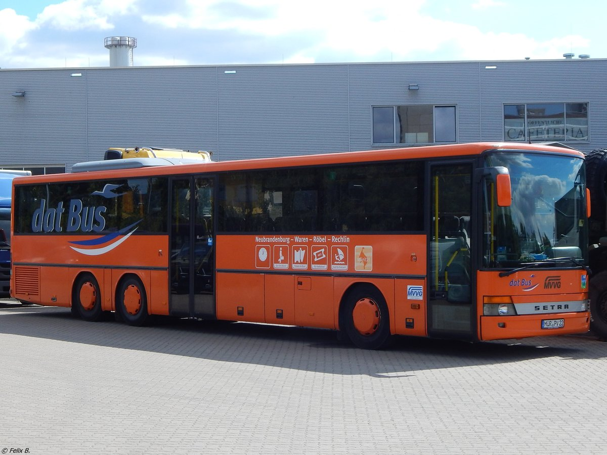 Setra 317 UL der MVVG in Neubrandenburg am 15.07.2018