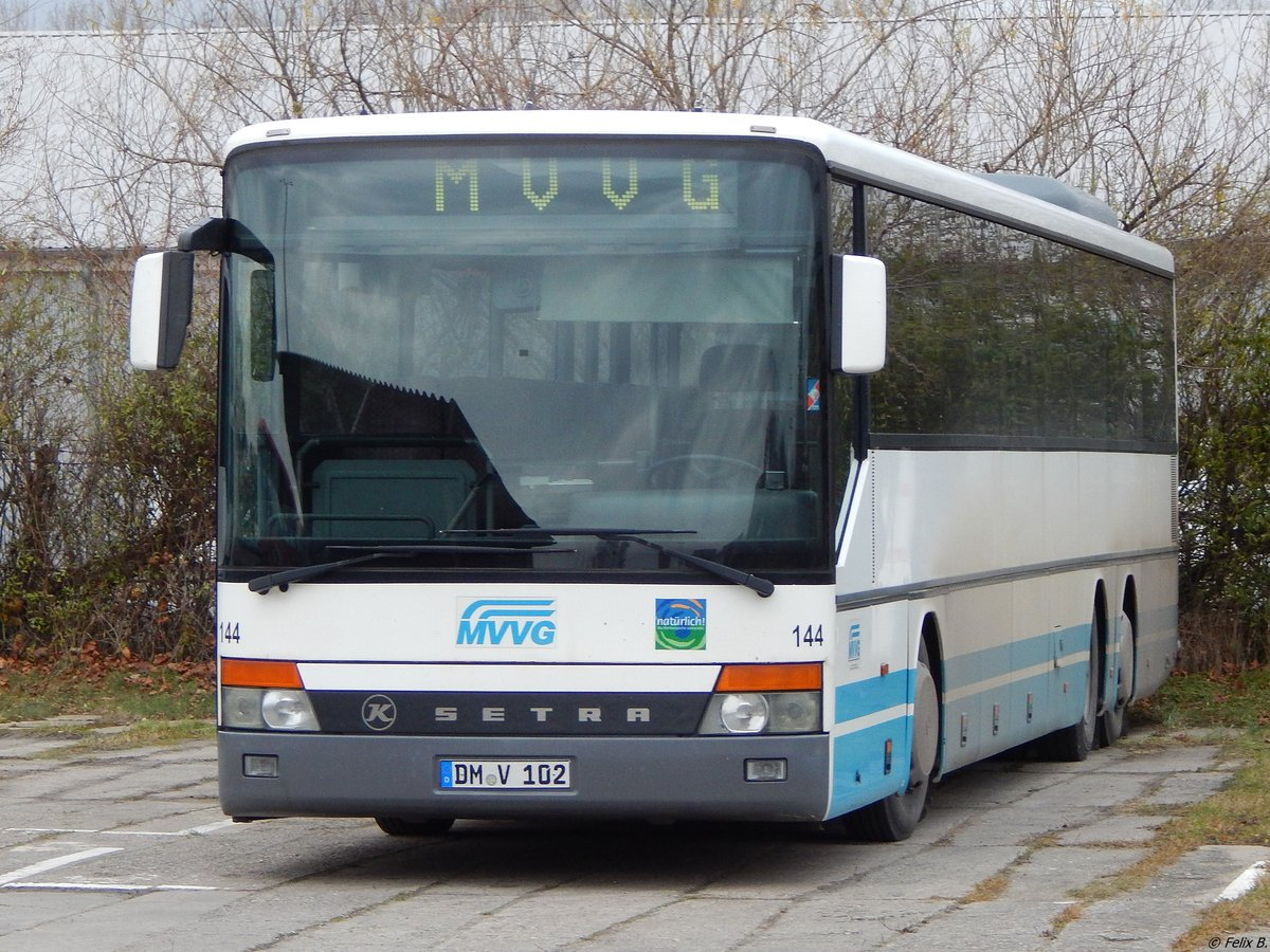 Setra 319 UL der MVVG in Neubrandenburg am 10.12.2017