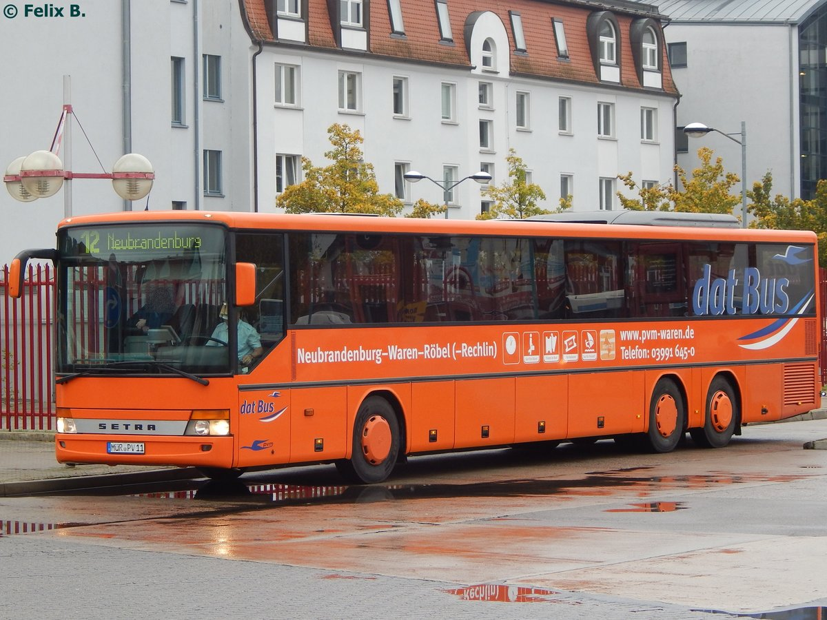 Setra 319 UL der PVM Waren in Neubrandenburg am 21.10.2016