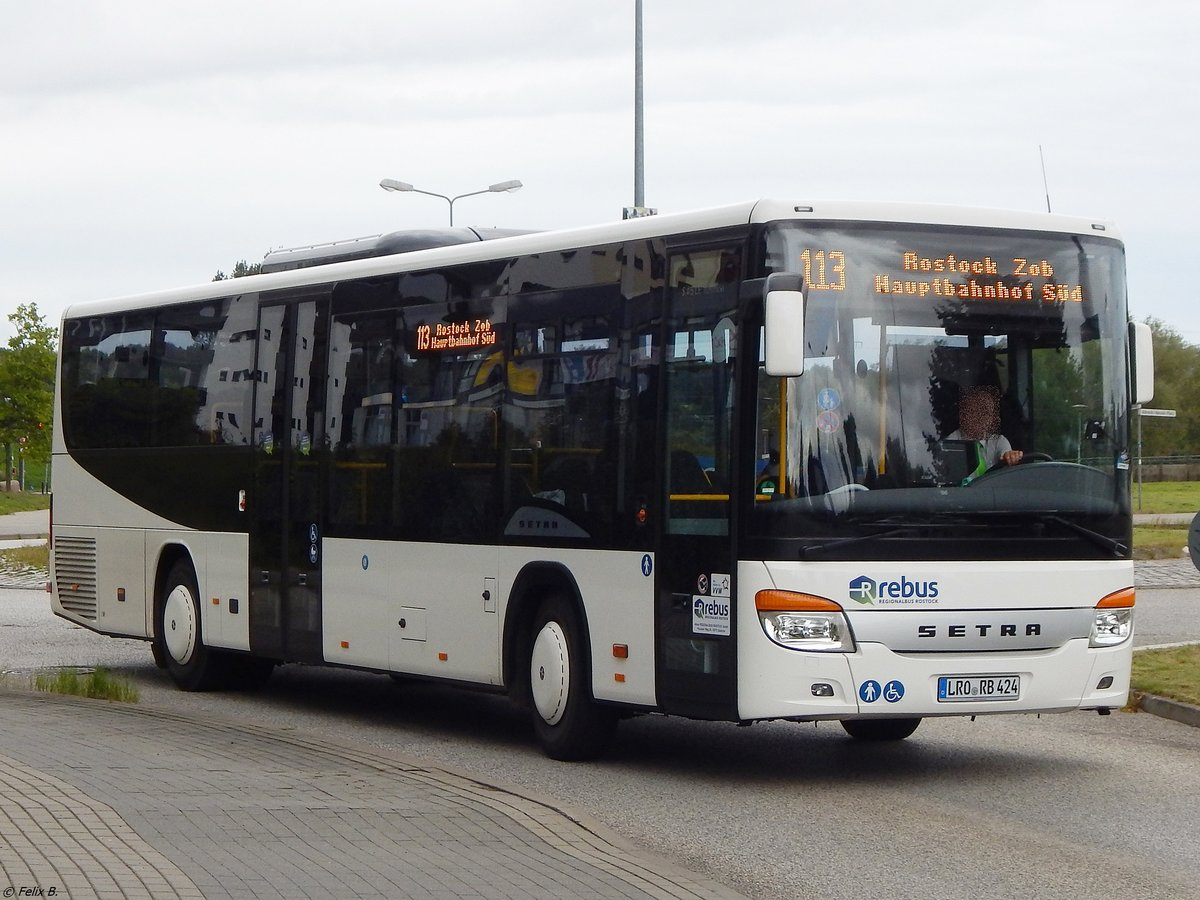 Setra 415 LE Business von Regionalbus Rostock in Rostock am 07.09.2017