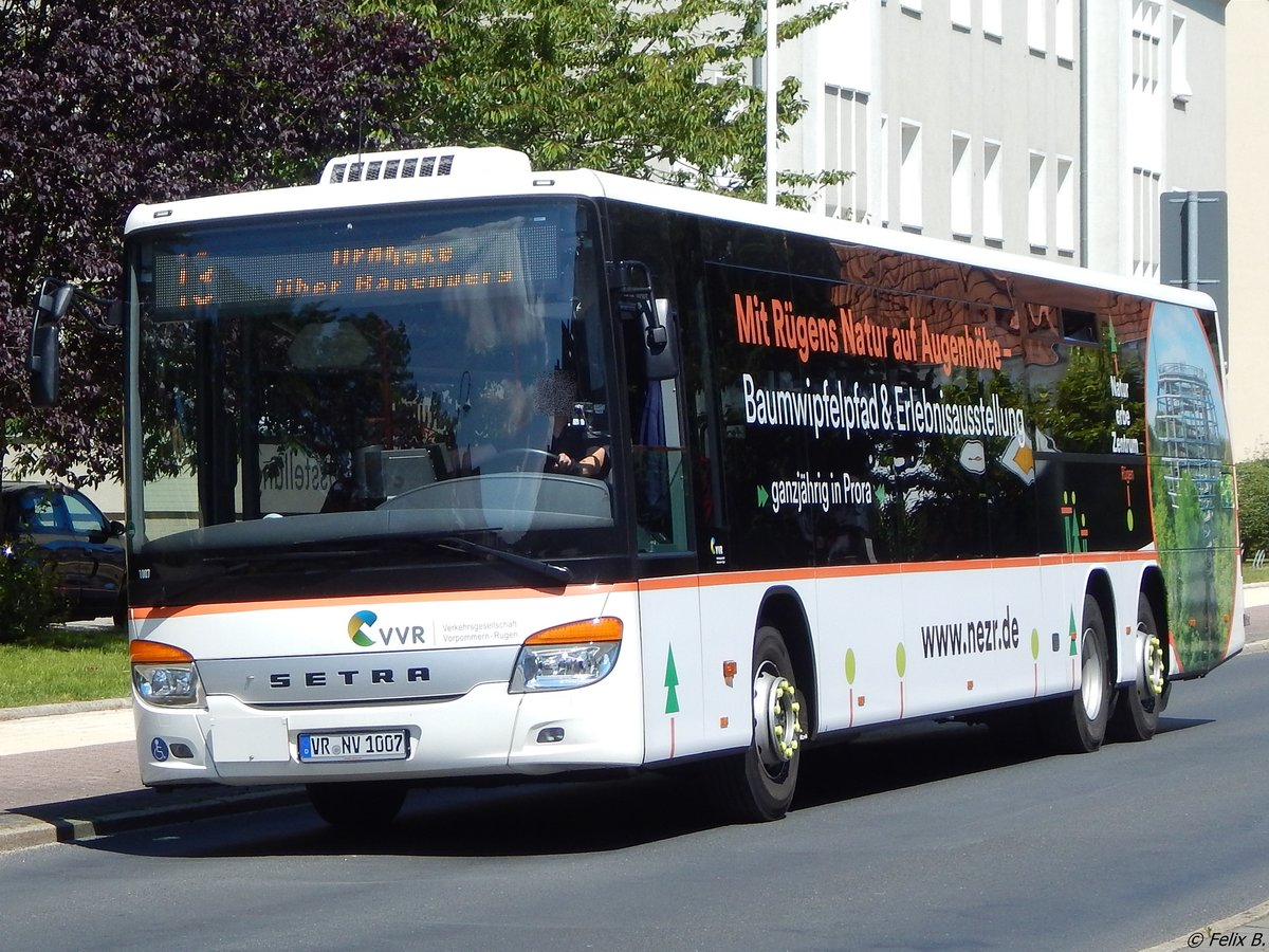 Setra 418 LE Business der VVR in Sassnitz am 15.07.2017