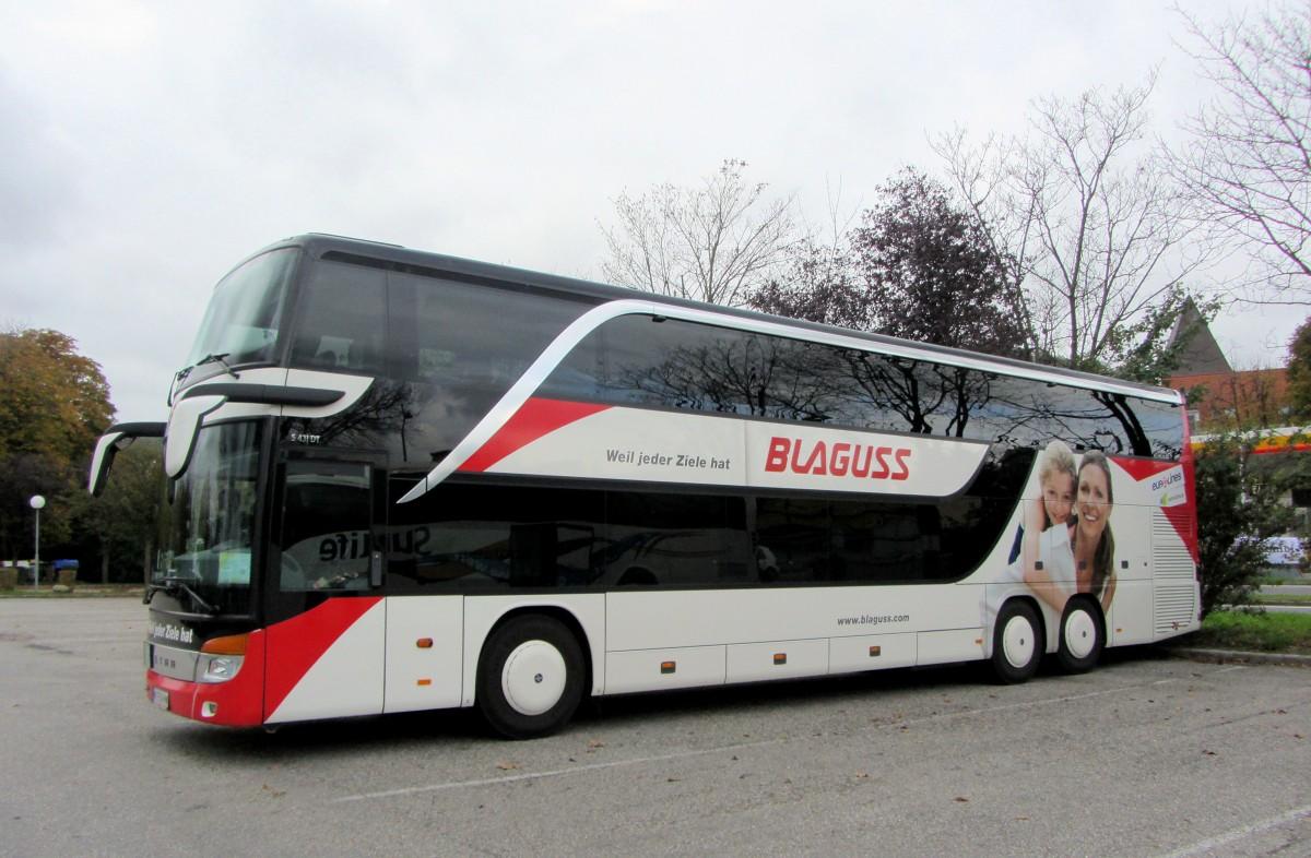 Setra 431 DT von Blaguss Reisen aus Wien am am 22.10.2015 ...