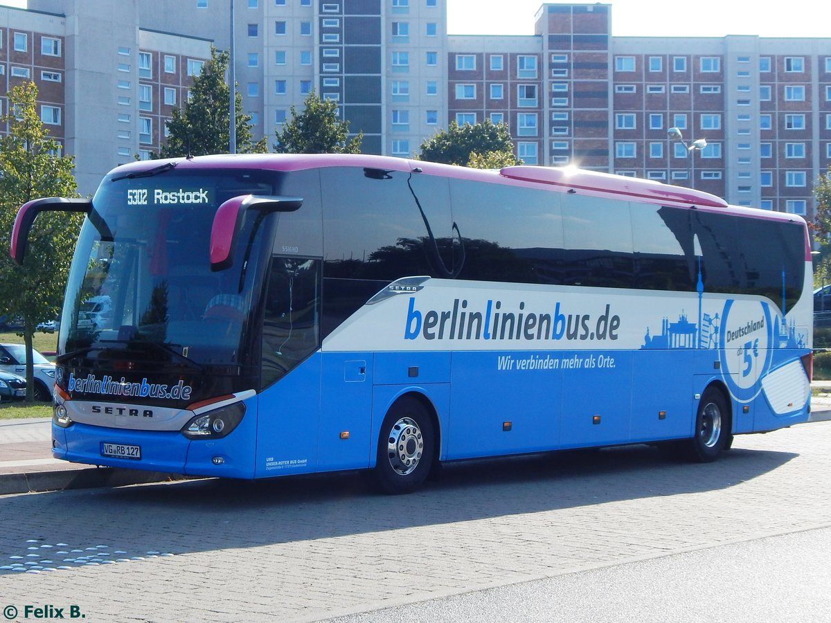 setra 516 hd von berlinlinienbus urb in rostock am bus. Black Bedroom Furniture Sets. Home Design Ideas