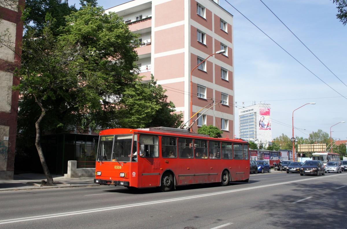 slowakei stadtbus bratislava koda 14tr ein o bus mit. Black Bedroom Furniture Sets. Home Design Ideas
