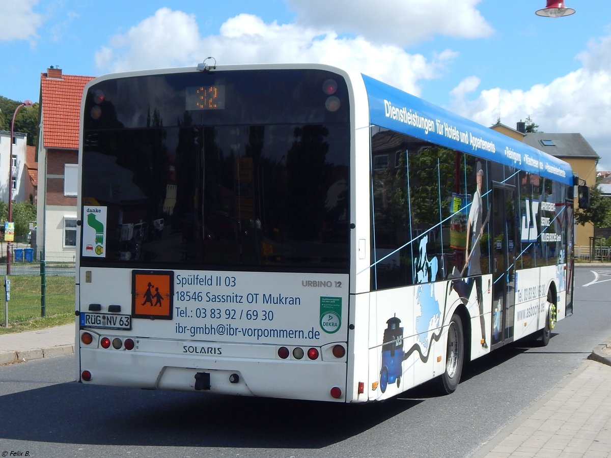 Solaris Urbino 12 der VVR in Bergen am 15.07.2015