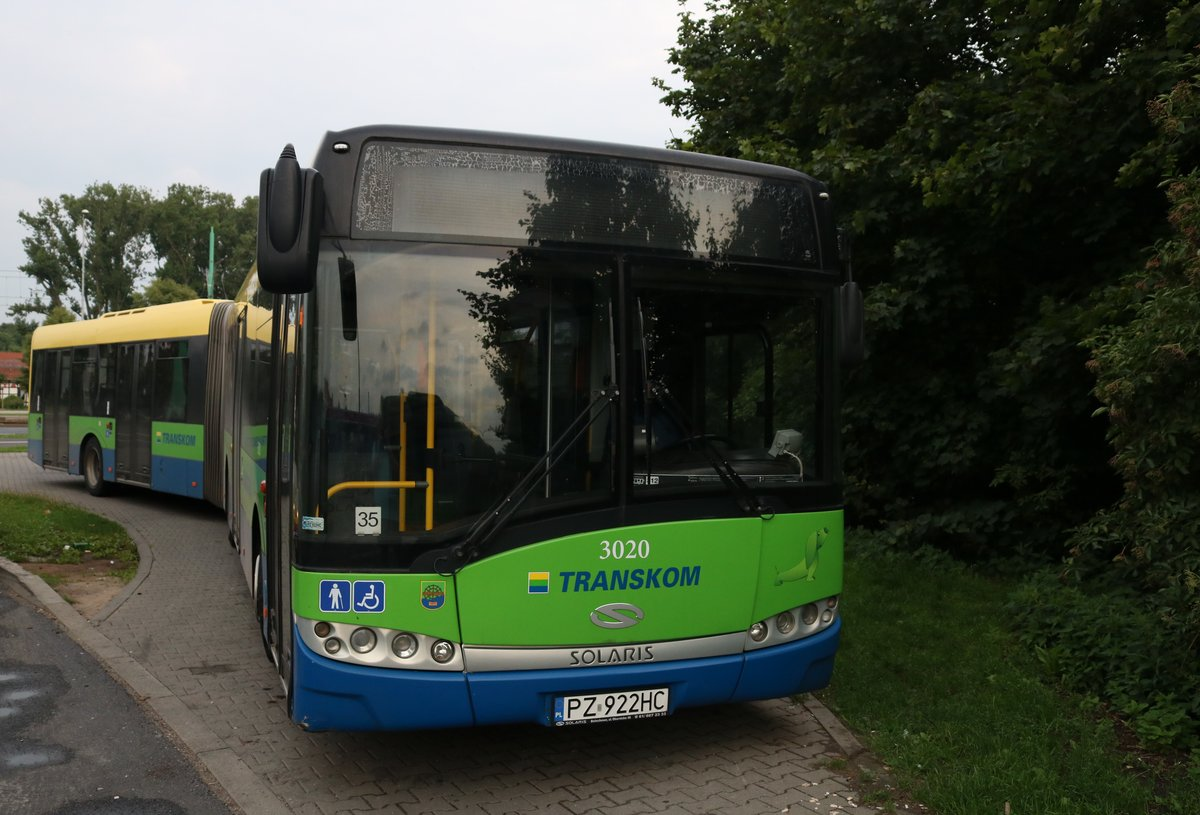 Solaris Urbino 18 Wagen 3020 am 19.07.18 in Poznan (Polen)