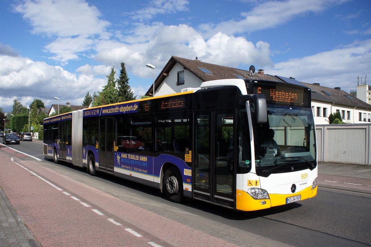 stadtbus mainz mercedes benz citaro c2 gelenkbus der mvg