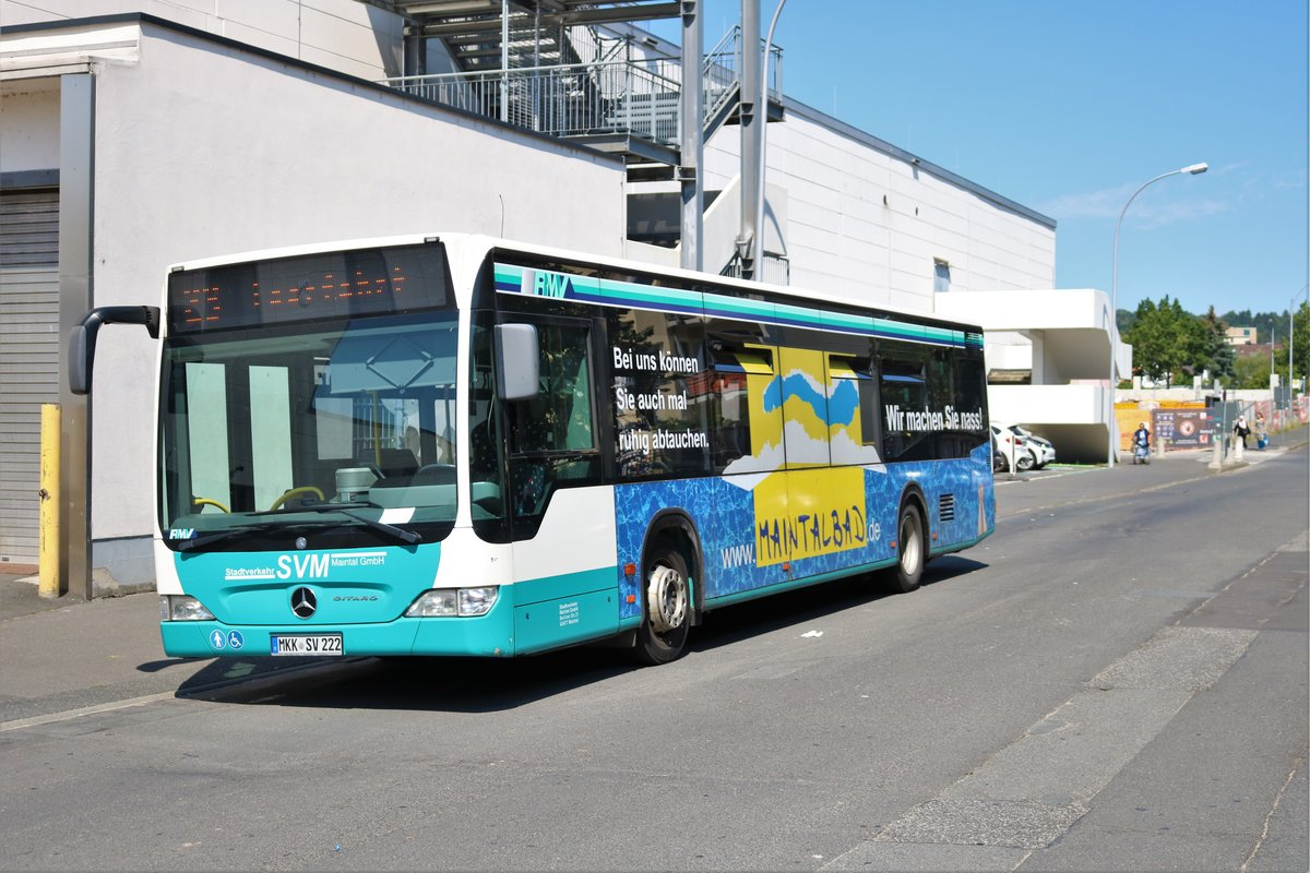 Stadtverkehr Maintal Mercedes Benz Citaro 1 Facelift am 06.07.19 in Frankfurt Enkheim