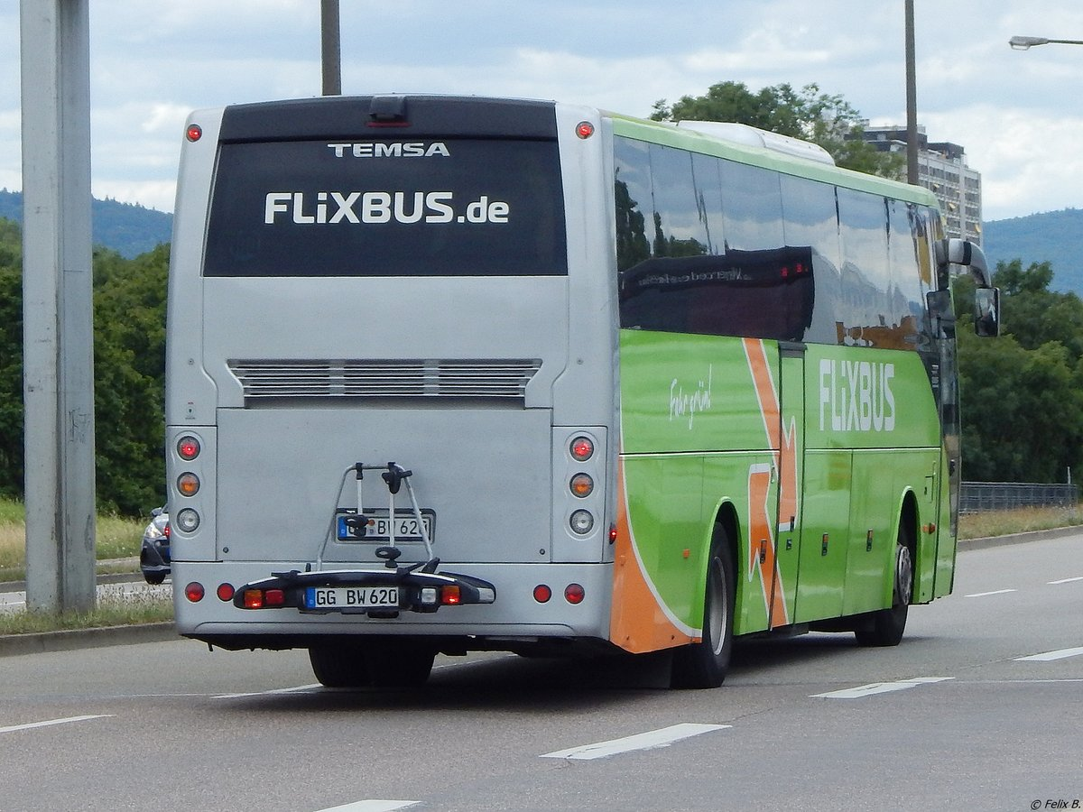 Temsa Safari HD von Flixbus/BusWorld International aus Deutschland in Karlsruhe am 22.06.2018
