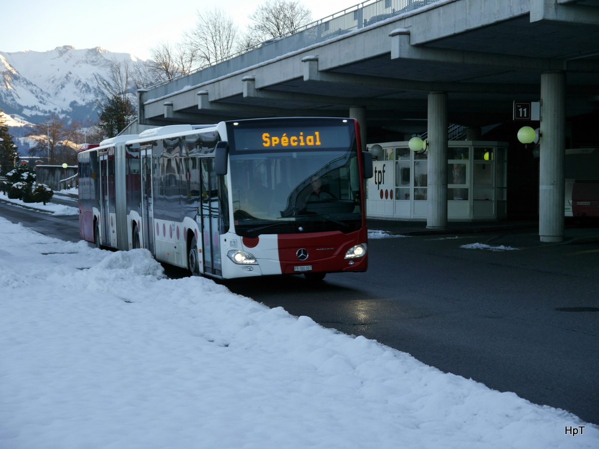 tpf - Mercedes Citaro Nr.127  FR 300387 unterwegs in Bulle am 07.12.2017