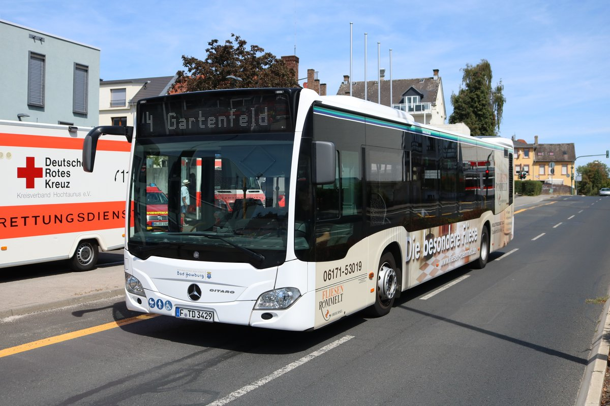 Transdev Rhein Main Mercedes Benz Citaro 2 am 12.08.18 in Bad Homburg