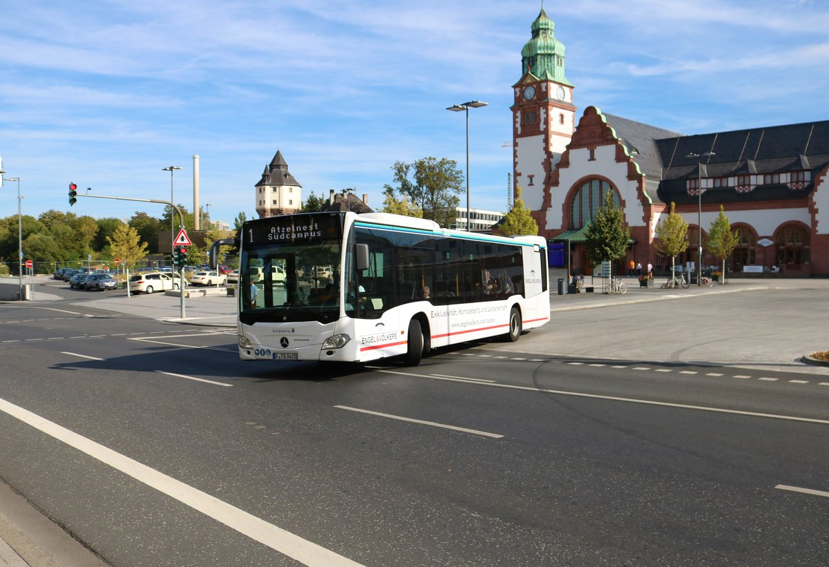 Transdev Rhein Main Mercedes Benz Citaro 2 am 12.08.18 in Bad Homburg Bhf