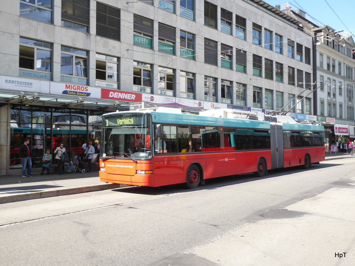 VB Biel - Trolleybus Nr.89 unterwegs in Biel am 10.04.2017