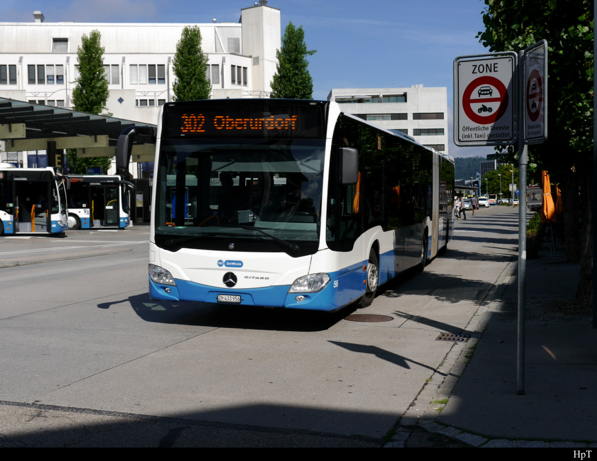 VBZ - Mercedes Citaro  Nr.56  ZH  433956 unterwegs in Dietikon am 08.08.2019