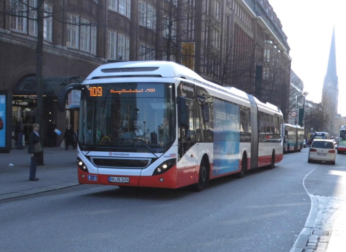 volvo 7900 lh hybrid hha 7474 auf linie 109 am hbf m nckebergstr 9 bus. Black Bedroom Furniture Sets. Home Design Ideas
