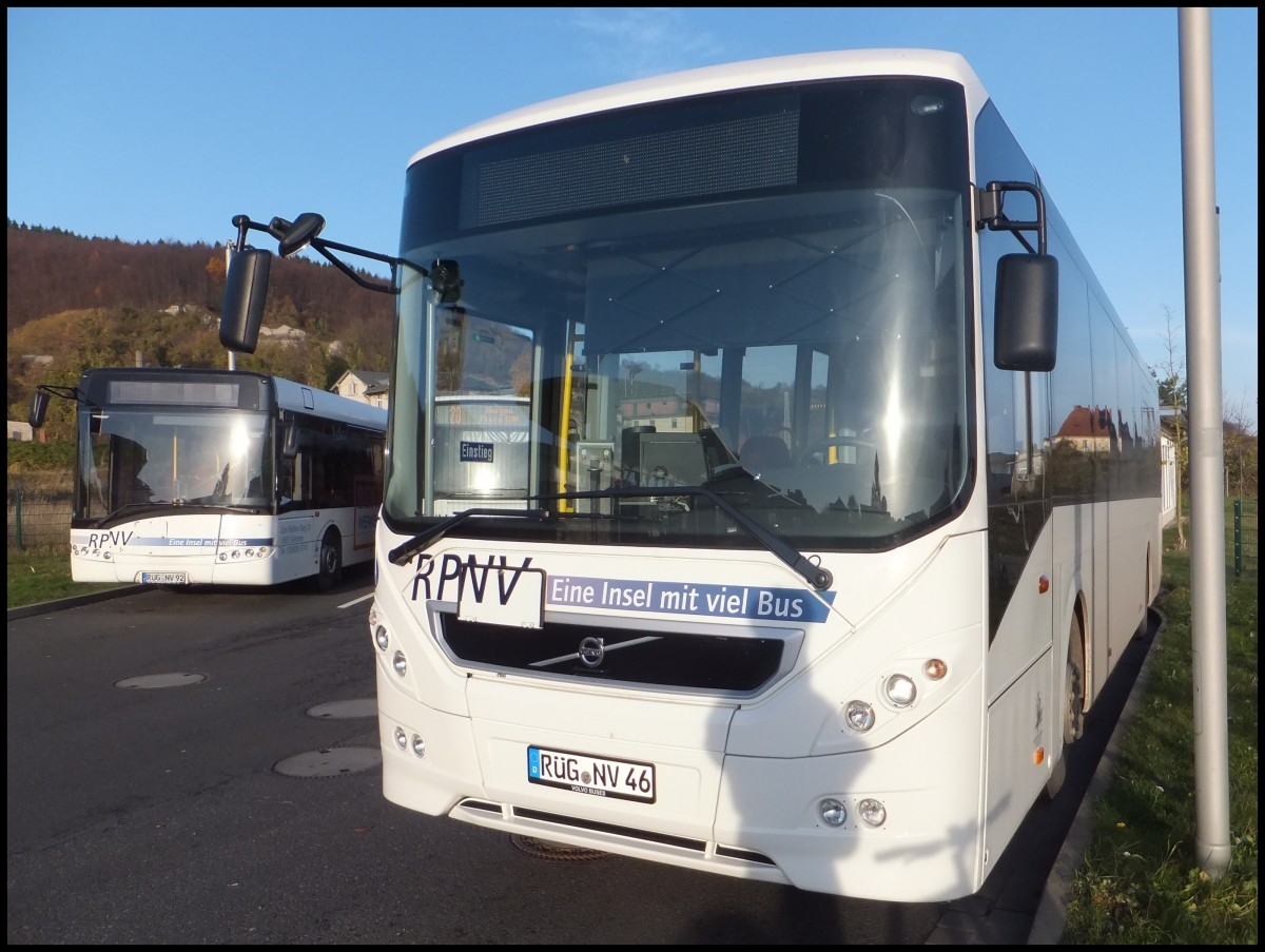 Volvo 8900 der RPNV in Sassnitz am 08.11.2013