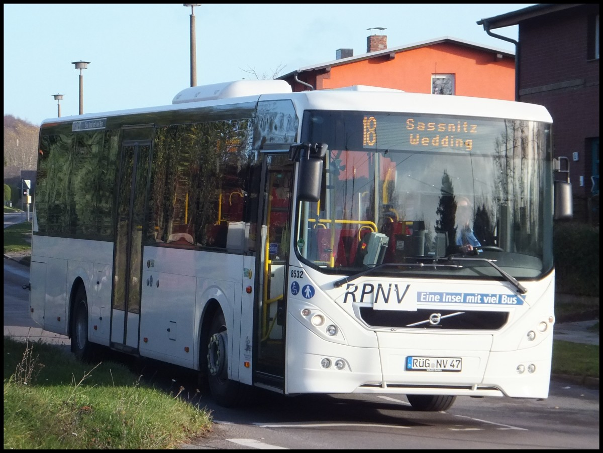 Volvo 8900 der RPNV in Sassnitz am 17.11.2013