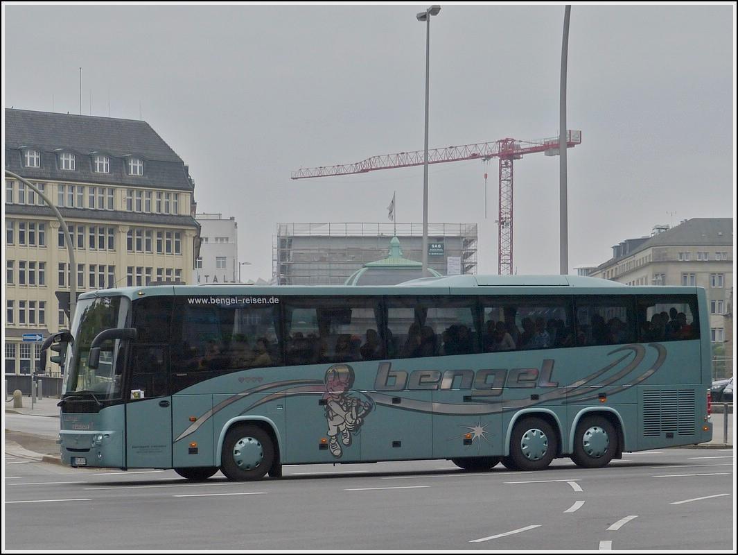 volvo 9900 reisebus des busunternehmens bengel aufgenommen nahe dem hbf von hamburg am. Black Bedroom Furniture Sets. Home Design Ideas