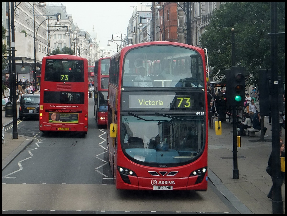 Volvo Wright von Arriva in London am 25.09.2013