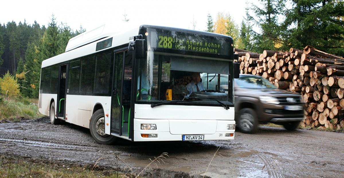 ein moderner man bus ist hier f r die hvb unterwegs auf der linie wernigerode blankenburg. Black Bedroom Furniture Sets. Home Design Ideas