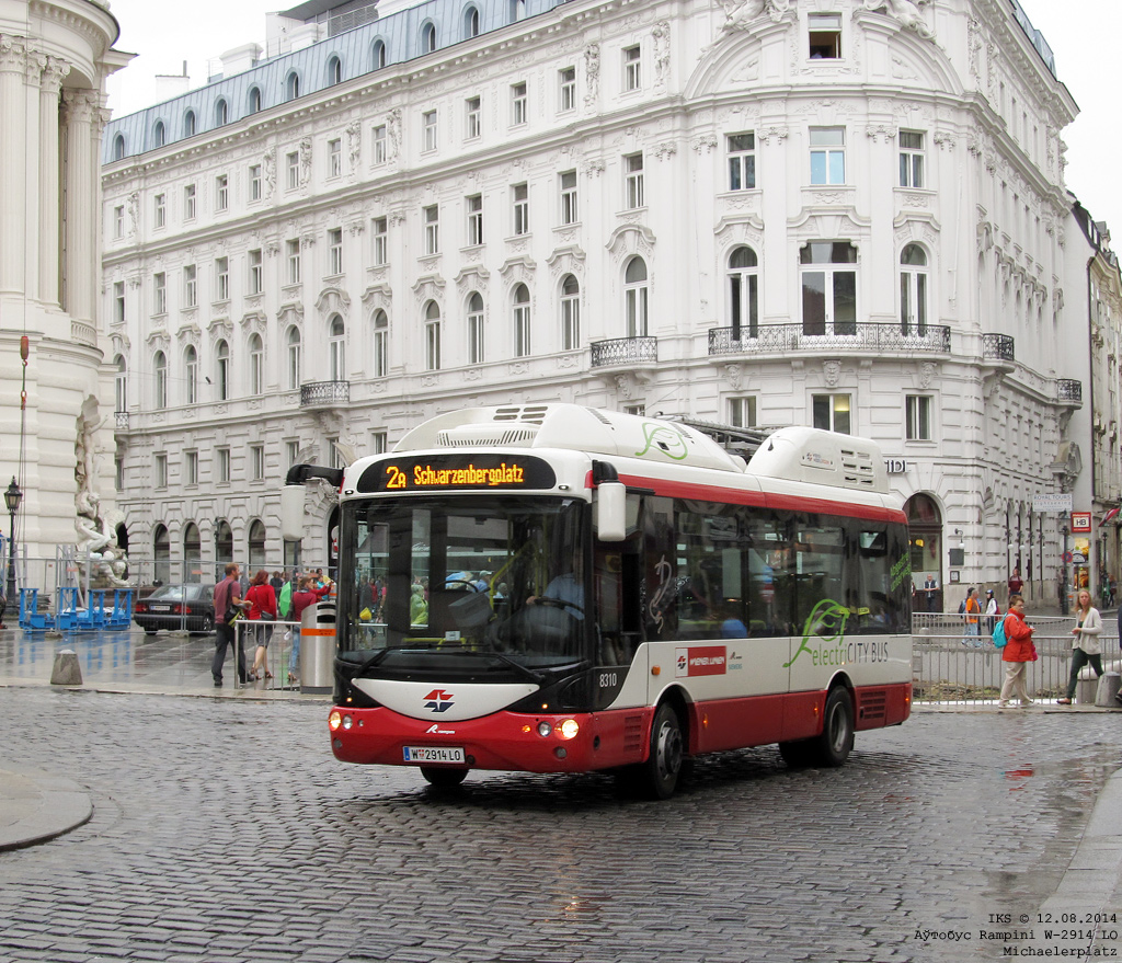 Wien, Michaelerplatz, Route 2A, 12.08.2014