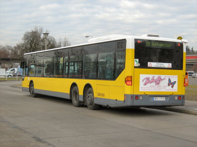 bvg bus 1739 am 17 1 2008 in berlin marzahn bus. Black Bedroom Furniture Sets. Home Design Ideas