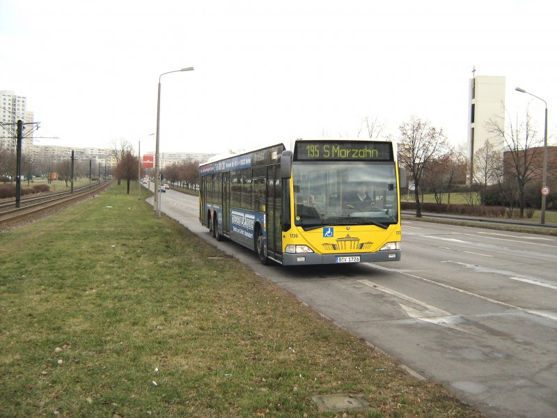 bvg stadtbus 1726 in berlin marzahn am 17 1 2008 bus. Black Bedroom Furniture Sets. Home Design Ideas