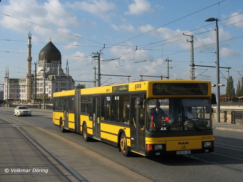 ein bus man ng 312 der dresdner verkehrsbetriebe ag dvb als stra enbahn ersatzverkehr auf der. Black Bedroom Furniture Sets. Home Design Ideas