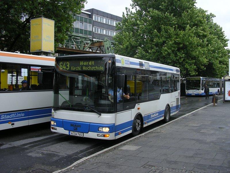 man midi wsw wagen 0152 linie 643 von wuppertal hardt bus. Black Bedroom Furniture Sets. Home Design Ideas