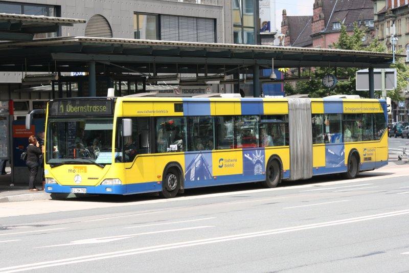 mobiel bi nw 780 mit der linie 2 zur bernstr werbung stadtwerke bielefeld bus. Black Bedroom Furniture Sets. Home Design Ideas