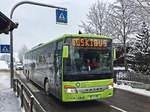 Frisch geschneit hatte es und auch am Tage hat es noch ein paar Schneeflocken gegeben (im Bild zu sehen). Die Liniennummer darf man nicht für bare Münze nehmen, '461.3' ist Quatsch und wurde wohl durch ein Bug hervorgerufen. Diesen Bus von  ...