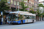 New Flyer Trolleybus E40LFR 2257, auf der Linie 4, unterwegs in Vancouver.