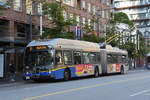 New Flyer Trolleybus E60LFR 2571, auf der Linie 10, unterwegs in Vancouver.