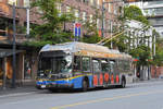 New Flyer Trolleybus E40LFR 2516, auf der Linie 4, unterwegs in Vancouver.