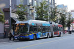 New Flyer Trolleybus E60LFR 2518, auf der Linie 10, unterwegs in Vancouver.