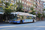 New Flyer Trolleybus E40LFR 2152, auf der Linie 14, unterwegs in Vancouver.