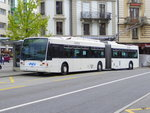 VMCV - Trolleybus Nr.10 unterwegs in Vevey am 03.05.2016