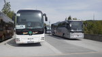 Mercedes-Benz Tourismo 16RHD und MAN Lions Coach am 16.05.2015 in Löbau