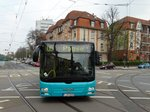 VGF/ICB (In der City Bus) MAN Lions City G Wagen 410 als SEV auf der Linie U5 am 14.04.16 in Frankfurt am Main