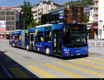 FART - MAN Lion`s City Nr.33  TI 323833 mit Werbung unterwegs in Locarno am 31.07.2020