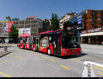 FART - MAN Lion`s City Nr.41 TI 323841 mit Werbung unterwegs in Locarno am 31.07.2020