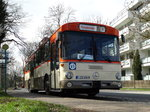 VGF Mercedes Benz O305 Downside als Osterhasenexpress am 26.03.16 in Frankfurt am Main Schwanheim
