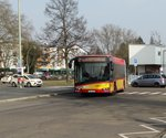 HSB Solaris Urbino 18 Wagen 81 am 10.03.16 in Hanau